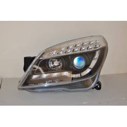 Set Of Headlamps Day Light Opel Astra H, 3 & 5 Doors, Blinker Led, Black