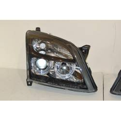 Set Of Headlamps Angel Eyes Opel Vectra C 2002-2004 Black
