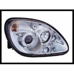 Set Of Headlamps Angel Eyes Mercedes SLK 1996, Chromed