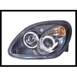 Set Of Headlamps Angel Eyes Mercedes SLK 1996, Black
