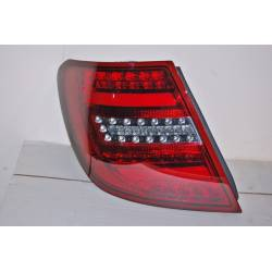Set Of Rear Tail Lights Cardna Mercedes W204 2011-2014 Lightbar Red Smoked