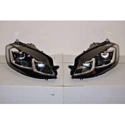 Set Of Headlamps Day Light Volkswagen Golf 7.5 2017 Black