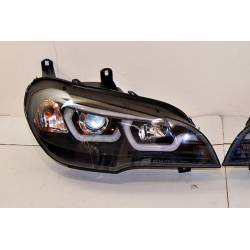 Set Of Headlamps Day Light Real BMW X5 E70 07-13 Black