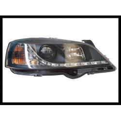 Faros Delanteros Luz De Dia Opel Astra G Black Mod.III