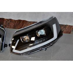 Faros Delanteros Luz De Dia Volkswagen T5 09-16 Xenon DRL Black