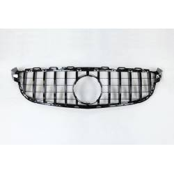 Front Grill Mercedes W205 C63 Look GT Glossy Black