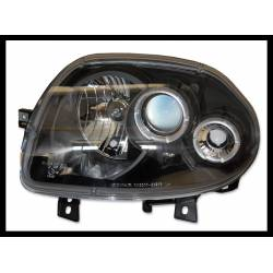 Set Of Headlamps Angel Eyes Renault Clio Phase II 1998-2001 Model II Black