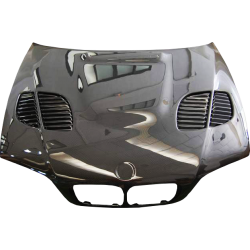 Capó Carbono BMW E46 '02-06 2P. Look M3 GTR C/T