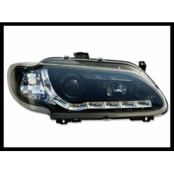 Set Of Headlamps Day Light Renault Megane 1996-1999 Black