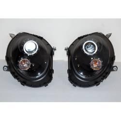 Set Of Headlamps Mini Cooper R55 / R56 / R57 2006-2010 Black
