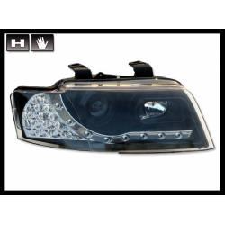 Faros Delanteros Luz De Dia Audi A4 '02 Cabrio Black