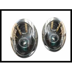 Set Of Headlamps Day Light Mini R50 / R52 / R53 2001-2005 Black