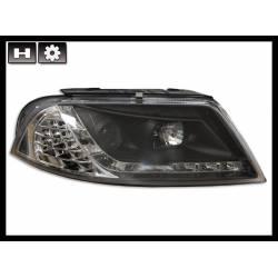 Set Of Headlamps Day Light Volkswagen Passat Black