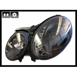 Set Of Headlamps Day Light Mercedes W211 2002-2006 Black