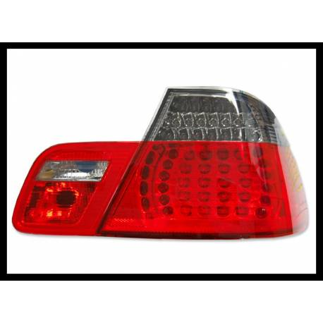 Set Of Rear Tail Lights BMW E46 2003-2005 2-Door Led Red/Smoked