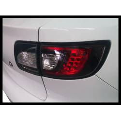 Set Of Rear Tail Lights Mazda 3 2003-2008 4-Door Led Black