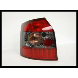 Set Of Rear Tail Lights Audi A4 2001 SW Led Red Smoked
