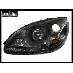 Faros Delanteros Luz De Dia Mercedes W220 '98'05, Black