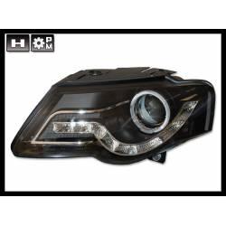 Set Of Headlamps Day Light Volkswagen Passat 2005 Black
