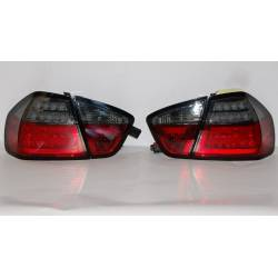 Pilotos Traseros Cardna BMW E90 05 Lightbar Led Red/Smoked