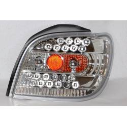 Set Of Rear Tail Lights Toyota Yaris 1999-2004 Led Chromed