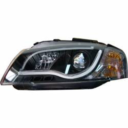 Faros Delanteros Audi A3 Luz Dia Lti 03-08 Black