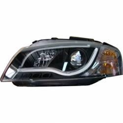 Set Of Headlamps Day Light Lti Audi A3 2003-2008 Black