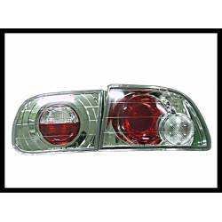 Set Of Rear Tail Lights Honda Civic 1992 3-Door Chromed