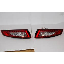 Set Of Rear Tail Lights Porsche 997 2005-2009, Led Red/Smoked