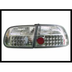 Set Of Rear Tail Lights Honda Civic 1992-1995 3-Door Led Chromed