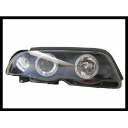 Faros Delanteros Ojos De Angel BMW E46 '98-01 4P. Inter. Black
