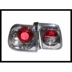Set Of Rear Tail Lights Honda Civic 1996 4-Door Lexus Chromed