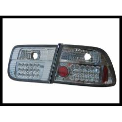 Set Of Rear Tail Lights Honda Civic 1996 Coupe Led Black
