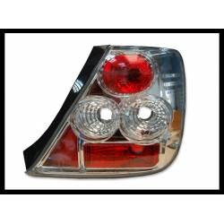 Set Of Rear Tail Lights Honda Civic 2000 3-Door Chromed