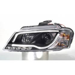 Set Of Headlamps Audi A3 08-12 Daylight Lti Black