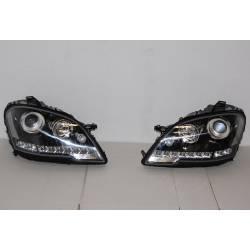 Faros Delanteros Luz De Dia Mercedes W164 08-11 Black