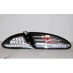 Set Of Rear Tail Lights Seat Leon 2005-2008 Led Black/Chrome