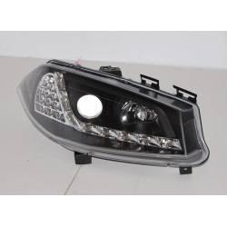 Set Of Headlamps Day Light Renault Megane 2003-2006 Black & Blinker Led