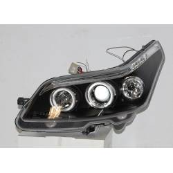 Set Of Headlamps Angel Eyes Citroen C4 Black, Model II