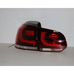 Set Of Rear Tail Lights Cardna Volkswagen Golf 6 Look R32 Led Red Lightbar