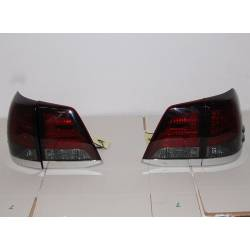 Set Of Rear Tail Lights Toyota Land Cruiser Fj200 08 Red Smoked