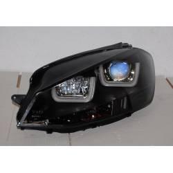 Set Of Headlamps Day Light Volkswagen Golf 7 Black