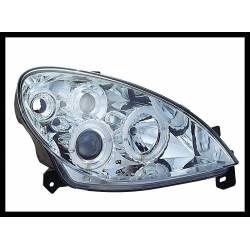 Set Of Headlamps Angel Eyes Citroen Xsara 2000 Chromed