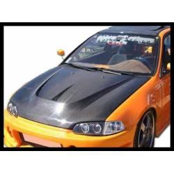 Carbon Fibre Bonnet Honda Civic 1992 2/3-Door, With Air Intake
