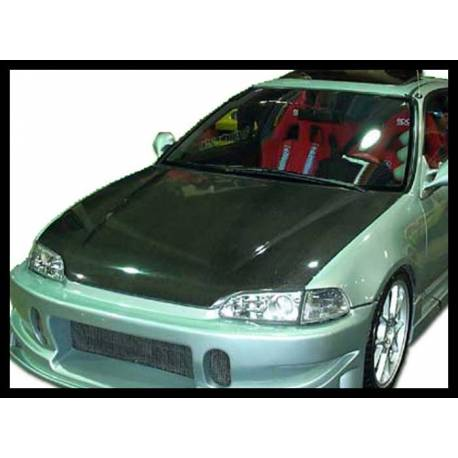 Carbon Fibre Bonnet Honda Civic 1992 4-Door, Without Air Intake