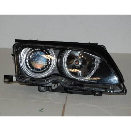 Faros Delanteros Ojos De Angel Bmw E46 02 05 4p Elect Black Bimar Tuning