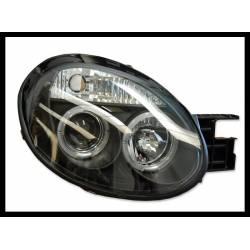 Set Of Headlamps Angel Eyes Chrysler Neon 2005, 3 Doors, Black