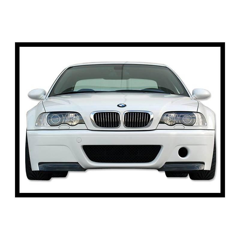 Front Bumper BMW E46 M3 CSL Type With Carbon Fibre Tips