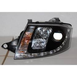 Set Of Headlamps Day Light Audi TT 1999-2005 10 Pins Black