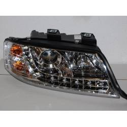 Set Of Headlamps Day Light Audi A6 1999-2000, Chromed